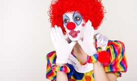 Fun Kids Birthday Clown Announcement Message Stock Photos