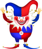 Clown with arms raised Stock Photos