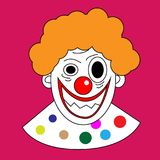 Clown avatar cartoon vector art Stock Photo