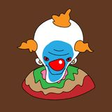 Clown avatar. Cartoon vector art design Royalty Free Stock Photos