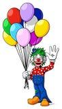 Clown avec des ballons Photographie stock