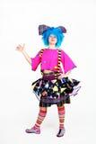 Clown avec le cheveu bleu Image libre de droits