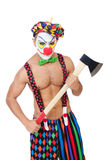 Clown with axe Stock Image
