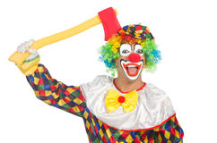 Clown with axe Royalty Free Stock Photo