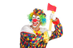 Clown with axe Stock Photography