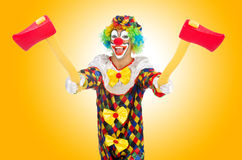 Clown with axe  Royalty Free Stock Images