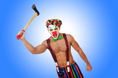 Clown with axe  Stock Images