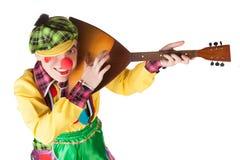 clown with a balalaika Royalty Free Stock Photography