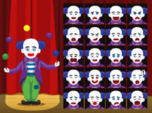 Clown Ball Trick Cartoon Emotion faces Vector Illustration Royalty Free Stock Images