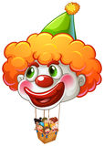 A clown balloon carrying kids Royalty Free Stock Photo