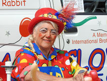 Clown balloon entertainer. Photo of pip the clown balloon childrens entertainer working at whitstable fun day show on 11th june 2017 Royalty Free Stock Images
