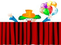 Clown with balloons Royalty Free Stock Photography