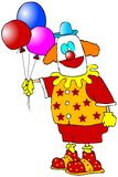 Clown With Balloons Royalty Free Stock Image