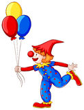 A clown with balloons Royalty Free Stock Photography