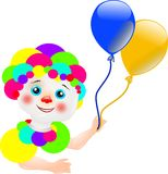 Clown with balloons Stock Image