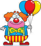 Clown Balloons de bande dessinée Images stock