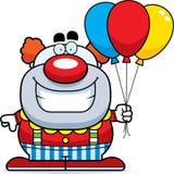 Clown Balloons de bande dessinée Photos stock