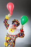Clown with balloons in funny concept Royalty Free Stock Images