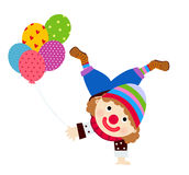Clown and balloons Stock Photo