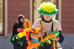 Clown with balloons Stock Photos