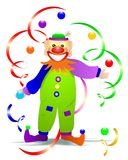 Clown with balls, cdr vector royalty free stock photos