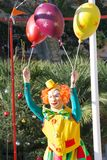 Clown with balls Royalty Free Stock Images