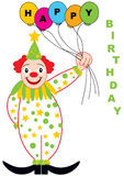 Clown with baloons Stock Images