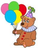 Clown bear with balloons Stock Photos