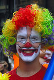 Clown with beautiful smile royalty free stock images