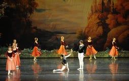 The clown beno-ballet Swan Lake Stock Images