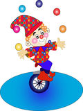 Clown on bicycle Royalty Free Stock Photo