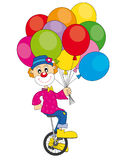 Clown bicycle Royalty Free Stock Photos