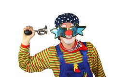 Clown with bicycle Horn Royalty Free Stock Photography