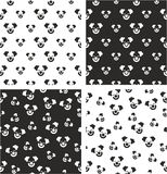 Clown Big & Small Aligned & Random Seamless Pattern Set Royalty Free Stock Image