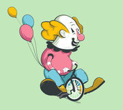 Clown on bike Stock Photography