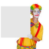 Clown with billboard Royalty Free Stock Photos