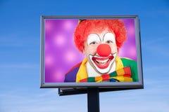 Clown on billboard Royalty Free Stock Photo