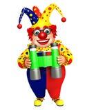 Clown with Binoculars royalty free illustration