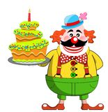 Clown with Birthday Cake Royalty Free Stock Photos