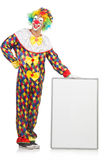 Clown with blank board Stock Image