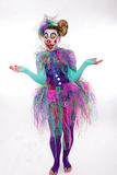 Clown with blow bubbles Stock Photography