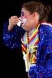 Clown blows his nose Stock Photo