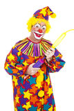 Clown Blows Up Balloon Royalty Free Stock Photo