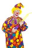Clown Blows Up Balloon Royalty Free Stock Photo