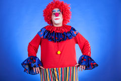 Clown on blue backgound Stock Photography