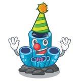 Clown blue sponge coral under sea cartoon. Vector illustration royalty free illustration