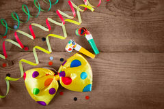 Clown bow tie and whistle Royalty Free Stock Photos