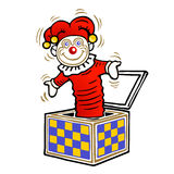 Clown in the box Royalty Free Stock Photos