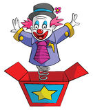 Clown Box Royaltyfria Foton
