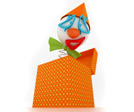 Clown in a box Stock Photography